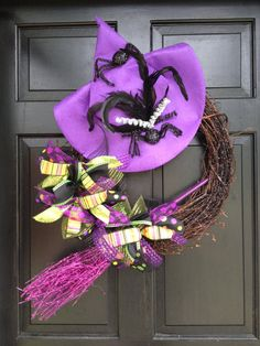 Halloween Wreath  Witch Wreath  Holiday by TheHolidayBowtique, $140.00