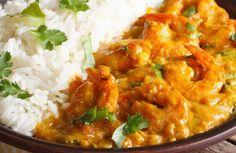 Curry de crevettes au lait de coco WW, recette d'un délicieux plat aux crevettes et au lait de coco parfumées au curry, facile et simple à réaliser pour un repas léger et savoureux.