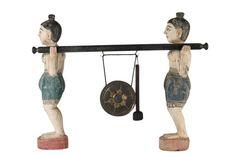 caratides sculpture decorative objects traditional bronze interior