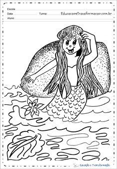 Desenhos da Iara para colorir e imprimir - Sereia Iara para pintar Colouring Pencils, Drawings