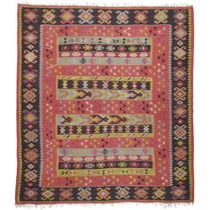 1stdibs   Balkan Kilim. Maybe I have to go with an old kilim and use a thick pad.