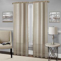 Achim Richmond Window Curtain Panel, Tan