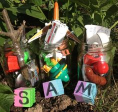 Such a great scavenger hunt for preschoolers learning letters! A perfect name activity for kids.