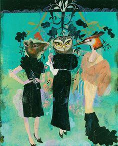 Fashion Animals, picture from the series Selection by Olaf Hajek, LUMAS Artist ✓ Olaf, Art And Illustration, Kreative Portraits, Animal Heads, Magazine Art, Online Art, New Art, Illustrators, Photo Art