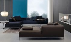 Love the chocolate and navy together-Jesse Chicago - products - day collection - sofas - martin