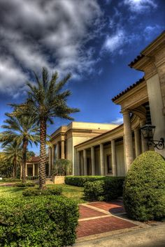 Another outside view of the West Side of the Museum of Fine Arts in St Pete, Florida