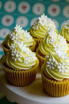 Cupcake margaridas