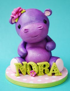 Hippo cake topper via Etsy