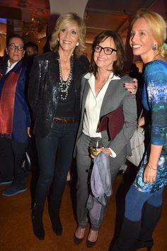 Jane Fonda and Sally Field.  photo by:  rose billings