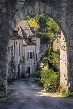 Ancient village Pyrenees
