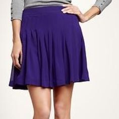 GAP | Pleated Skirt Beautiful, purple pleated skirt from GAP. Fully lined with side zipper and hook closure. GAP Skirts