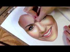 Chloe Grace Moretz Full Color Pastel Portrait Drawing Video - YouTube
