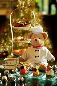 Chef Bear having tea! :)