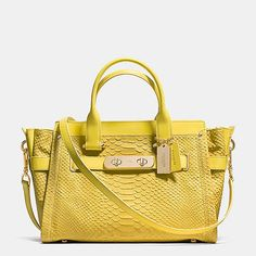 COACH SWAGGER IN PYTHON EMBOSSED LEATHER