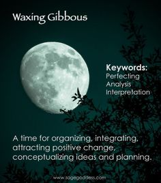 Moon Phases Waxing Gibbous This is a time for spells that attract that bring positive change spells for love good luck growth This is a time for new beginnings to concept. New Moon Rituals, Full Moon Ritual, Wicca Witchcraft, Magick, Moon Spells, Magic Spells, Moon Meaning, Moon Time, Waxing Gibbous