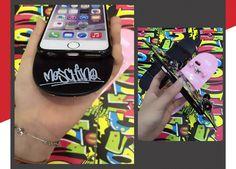 moschino Gekritzel bunter Schieber Schutzcase für Iphone6/6plus