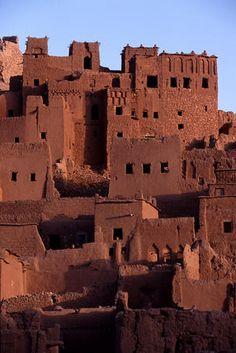 buildings, Kasbah town, Morocco