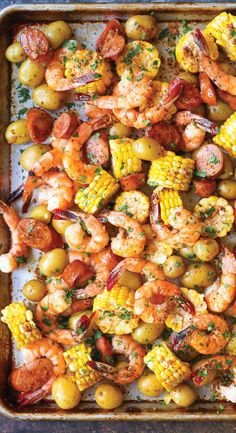 Toss shrimp, sausage, potatoes, and corn on the cob on a single sheet pan and voilà: You've got a main course and side dishes. Get the recipe.