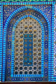 Blue - Azul - Mesquita - azulejos - Door - Porta - Mosque Architecture by Jose… Mosque Architecture, Art And Architecture, Architecture Details, Beautiful Architecture, Beautiful Buildings, Dome Of The Rock, Beautiful Mosques, Handmade Tiles, Iron Work