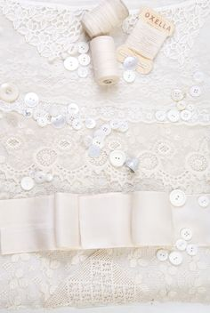 Image made from Vintage ribbons, lace, buttons and threads - courtesy of the Saddleworth Museum and Samantha Mills Designs, photography Jude Gidney  Photography and used on the website www.saddleworthvintage.co.uk