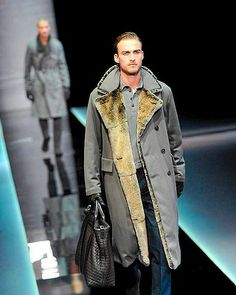 One of many great coats - part of Giorgio Armani Fall-Winter 2013-2014 Menswear collection