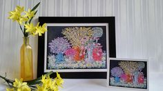 Flowering Pots of Love  Original Chalk Art Drawing  Print