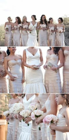 Choosing Your Bridesmaids Dresses? Lovely color choice:) #wedding #bride #beauty