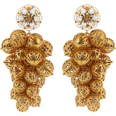 Dolce & Gabbana Daisy clustered earrings (6,800 CNY) ❤ liked on Polyvore featuring jewelry, earrings, daisy jewellery, earrings jewellery, filigree earrings, earring jewelry and cluster jewelry