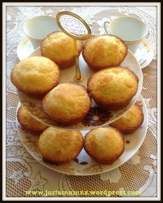 I really enjoy this recipe - super quick to make up and results in lovely moist lemony muffins with a tasty crunchy top. I got the recipe & lemons from myMum andDadso that is even