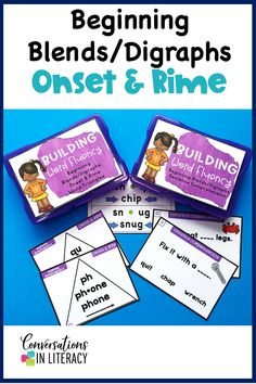 Blends and Digraphs Activities with onset and rime word triangles. Included are sentence comprehension cards. Great for guided reading word work, literacy centers and reading interventions. #decoding #phonics #readinginterventions #guidedreading #fluency #conversationsinliteracy  #elementary #classroom #firstgrade #secondgrade #thirdgrade 1st grade, 2nd grade, 3rd grade