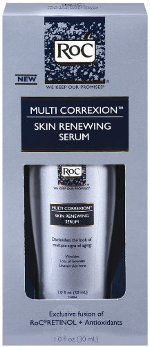 ROC Multi-Correxion Skin Renewing Serum | Not only does it diminish the appearance of any and all brown spots, but it also gets rid of all sorts of wrinkles and crows feet.