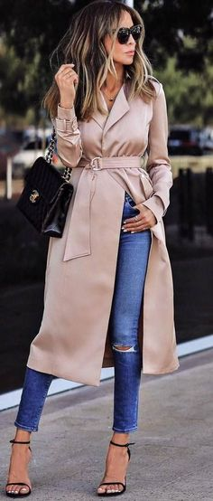 a blush silk coat to twirl around and feel like a princess in