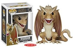 """Funko POP 6"""" Game of Thrones Viserion Action Figure Dolls Toys"""