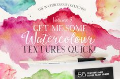 Give Me Watercolour Textures Quick! by Nicky Laatz on Creative Market