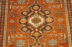 APPROX.50-60 YEARS OLD ANTIQUE CAUCASIAN RUG 2.3x3.6 SHIRVAN_KAZAK DESIGN BEAUTY #Caucasian