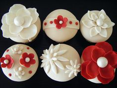 I love the variations on red and white in this cupcake collection.