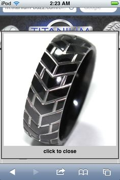 Tire tread ring! Probably the greatest ring ever.