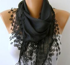 Black Scarf   - by fatwoman, $15.00
