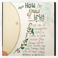 cutest card award! how to grow a baby! Baby place coming in one week-ish follow our story here.