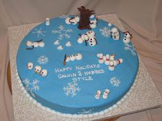 Calvin  Hobbes Holiday cake