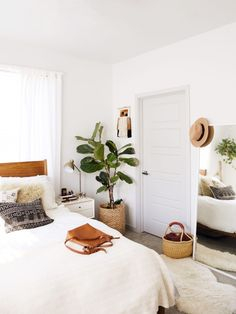 New Darlings - Boho Mid-century style bedroom - House hunting update