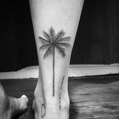 This detailed palm tree. | 21 Delicate Botanical Tattoos To Inspire You