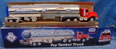 CROWN 75th Anniversary 1995 Tanker Truck 2 in Series Special Edition Plastic D3 #Crown