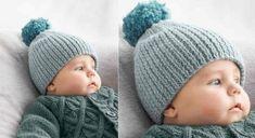 Tricotez un bonnet à pompon bien chaud pour votre bébé. Ce modèle est réalisé en côtes 1/1, puis resserré par un fil de fronces. Un pompon termine le haut. Tailles : a) naissance – b) 3 ...