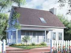 Eplans New American House Plan - A Lot of House for a Small Lot - 1597 Square Feet and 3 Bedrooms from Eplans - House Plan Code HWEPL13760