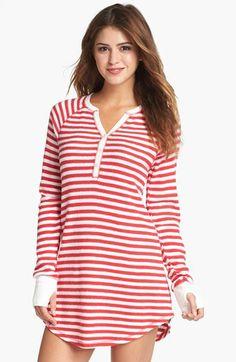 PJ Salvage Brushed Thermal Sleep Shirt available at - Size Medium -- Adorbs! Cute Pjs, Cute Pajamas, Nightgown Pattern, Babydoll, Plus Size Pajamas, Sunday Outfits, Sleep Shirt, Blouse Styles, Colorful Fashion