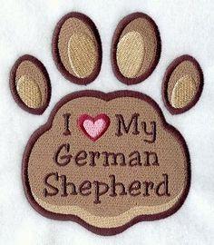 We love our German Shepherds