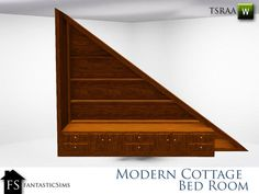 fantasticSims' Modern Cottage Understairs Bed Cubby Right