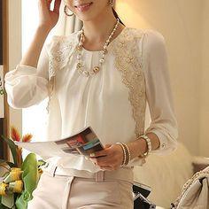 vintage chiffon lace blouse