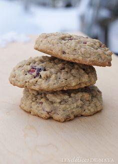 Les délices de Maya: Biscuits au gruau et aux canneberges